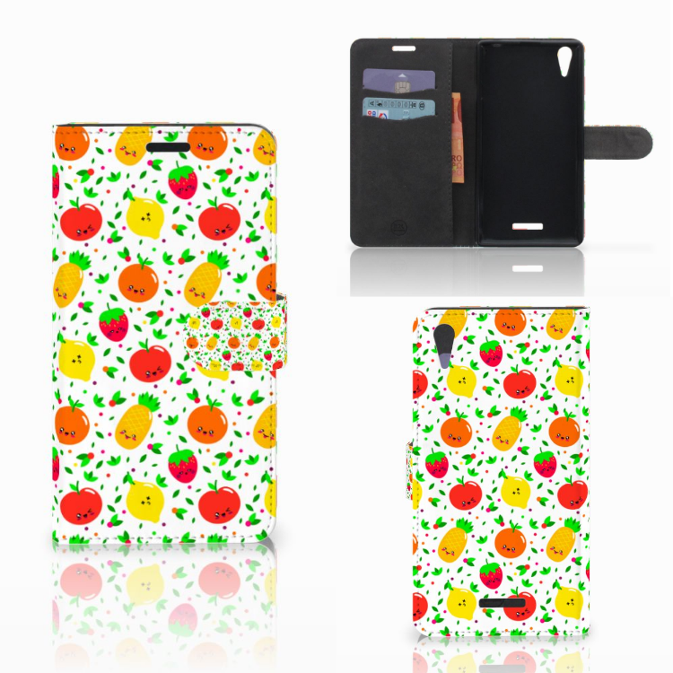 Sony Xperia T3 Book Cover Fruits