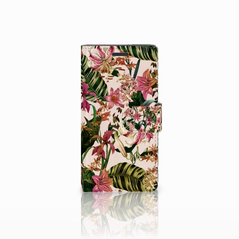 Nokia Lumia 830 Uniek Boekhoesje Flowers