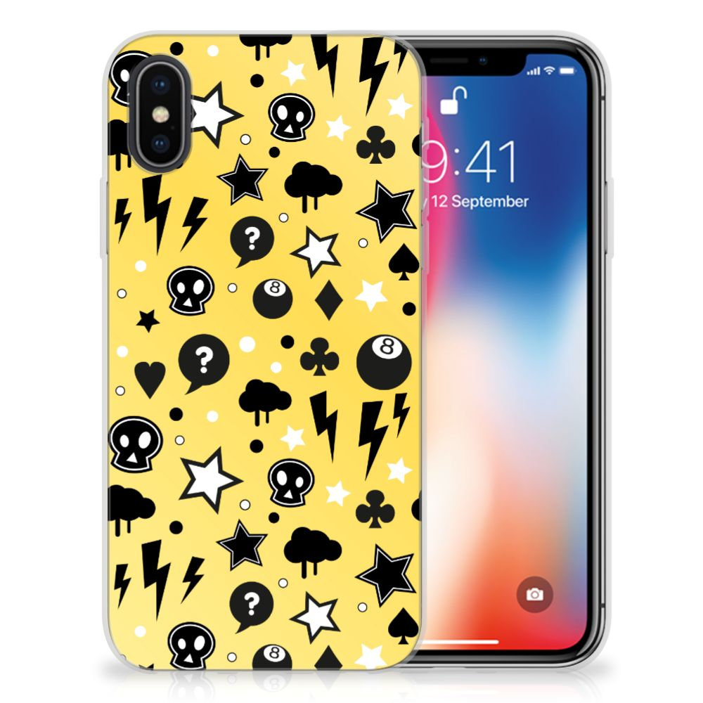 Silicone Back Case Apple iPhone X | Xs Punk Geel
