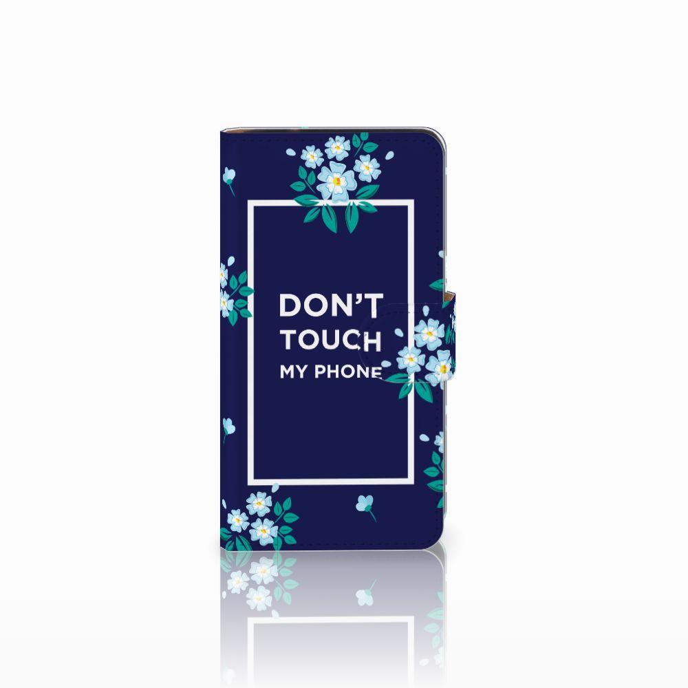 Samsung Galaxy J2 (2015) Boekhoesje Flowers Blue DTMP