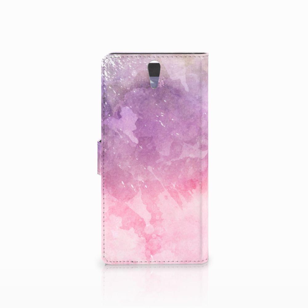 Hoesje Sony Xperia C5 Ultra Pink Purple Paint