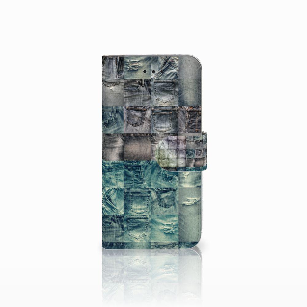 Apple iPhone X   Xs Uniek Boekhoesje Spijkerbroeken