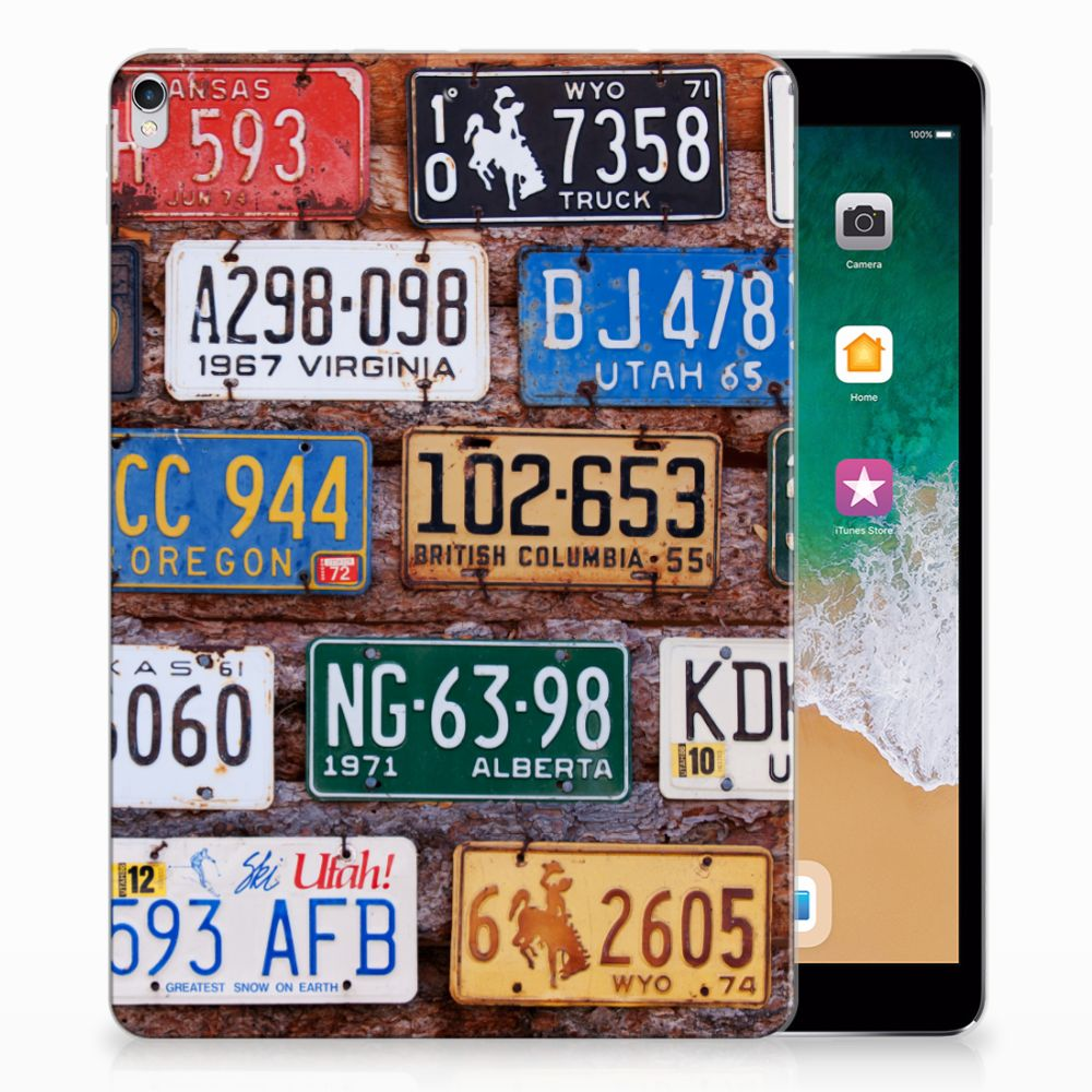 Apple iPad Pro 10.5 Tablet Backcover met foto Kentekenplaten
