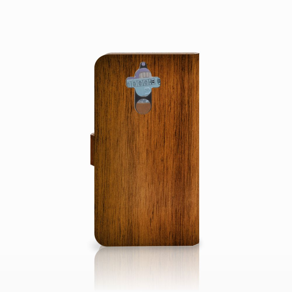Huawei Mate 9 Book Style Case Donker Hout