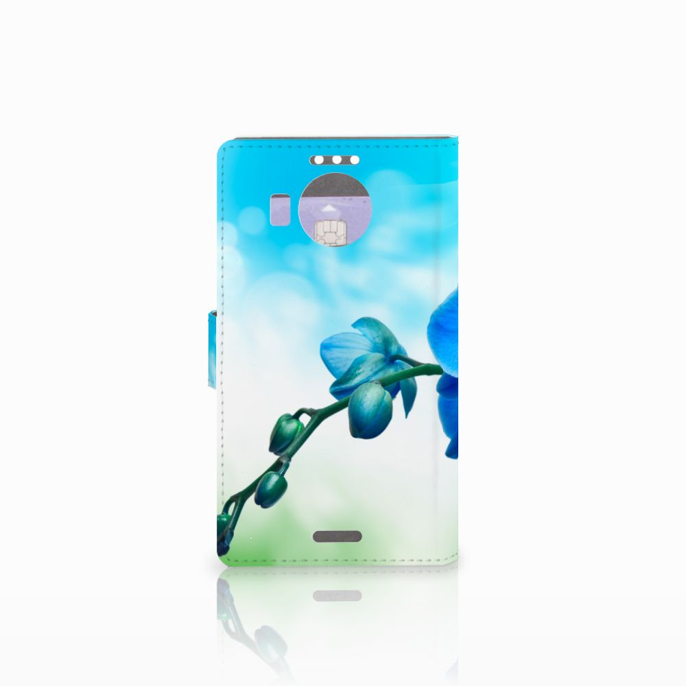 Microsoft Lumia 950 XL Hoesje Orchidee Blauw
