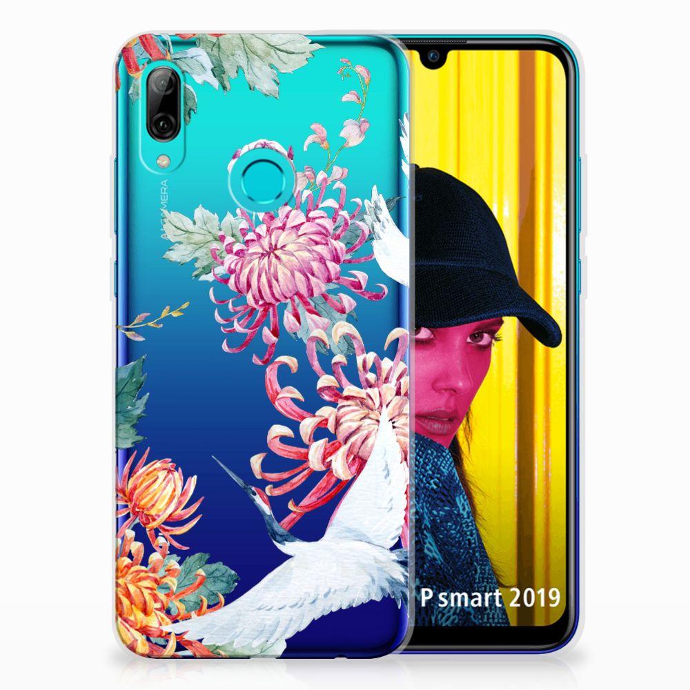 Huawei P Smart 2019 TPU Hoesje Bird Flowers