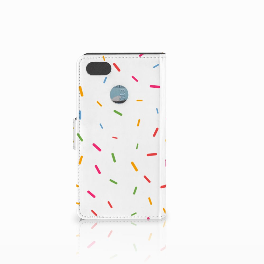 Huawei Y6 Pro 2017 Book Cover Donut Roze