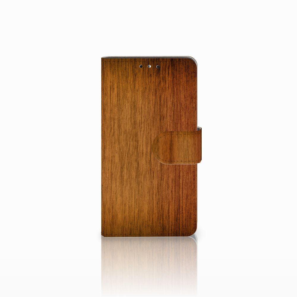 Huawei Y5 | Y6 2017 Uniek Boekhoesje Donker Hout