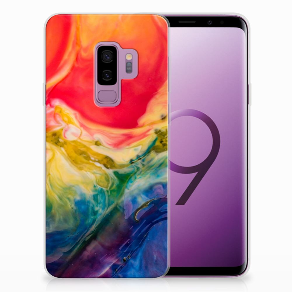Samsung Galaxy S9 Plus Uniek TPU Hoesje Watercolor Dark