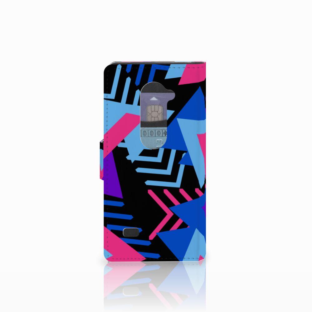 LG Leon 4G Bookcase Funky Triangle