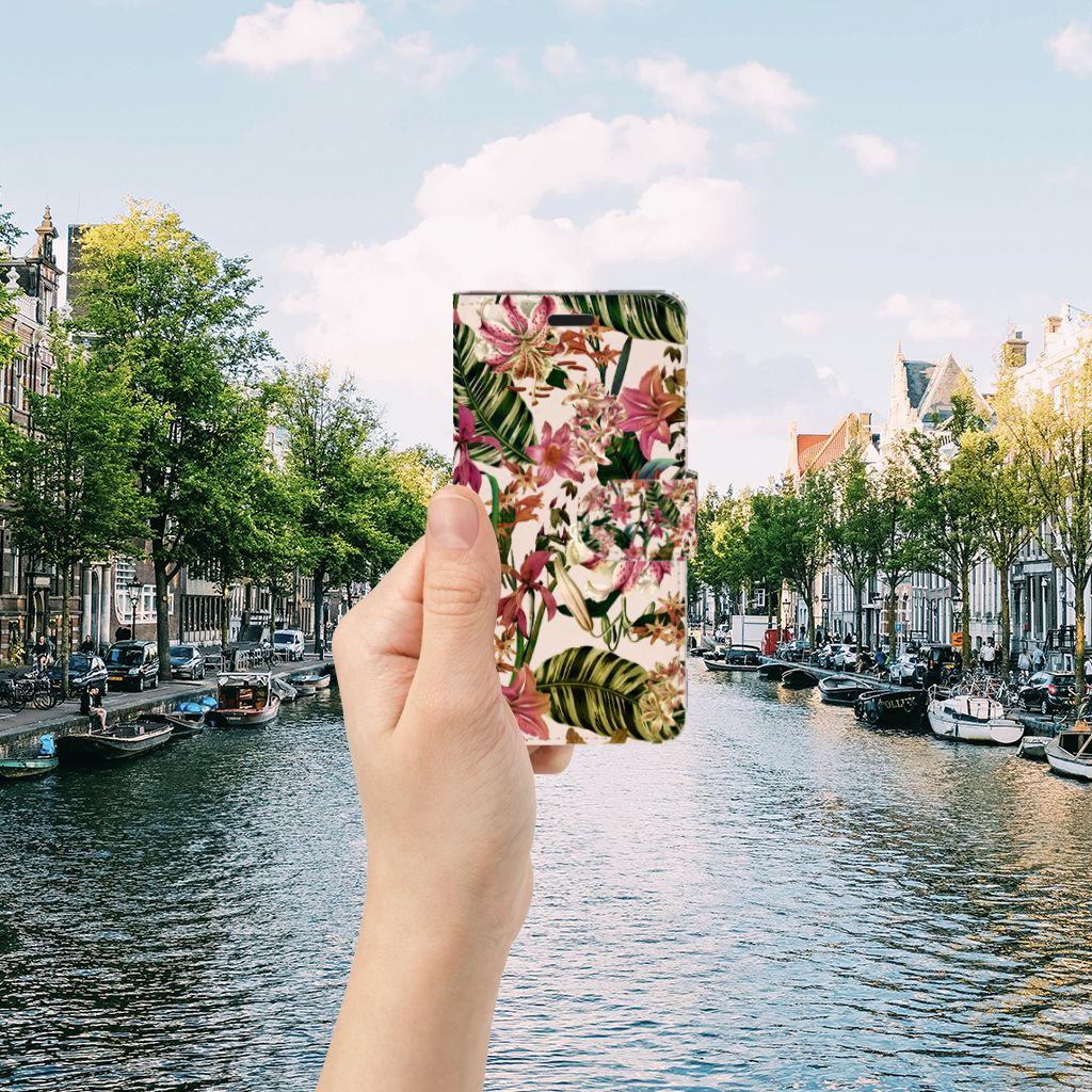 HTC 10 Uniek Boekhoesje Flowers