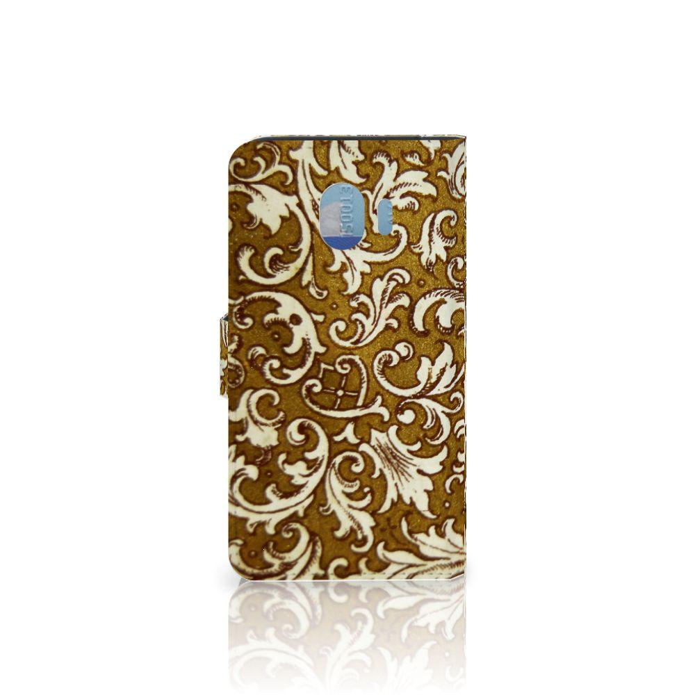 Wallet Case Samsung Galaxy J4 2018 Barok Goud