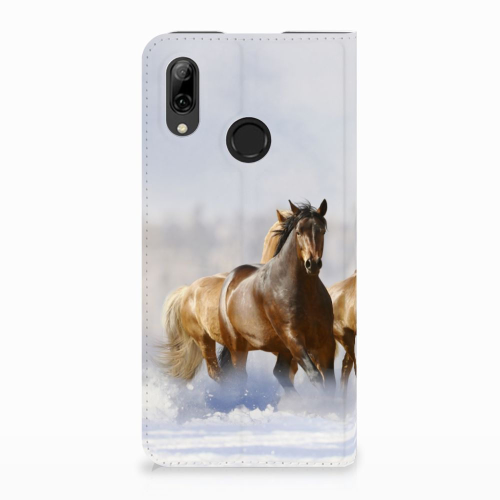 Huawei P Smart (2019) Uniek Standcase Hoesje Paarden