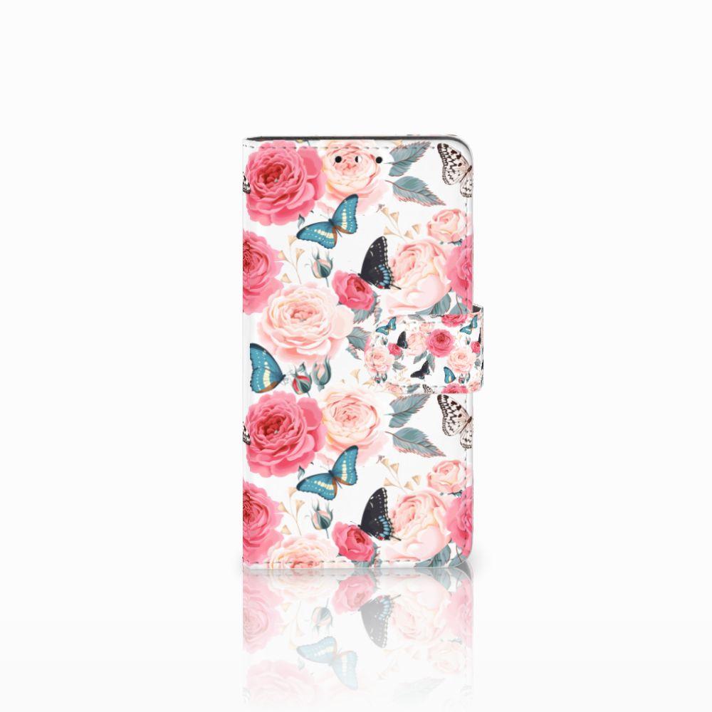 Huawei Y5 | Y6 2017 Uniek Boekhoesje Butterfly Roses