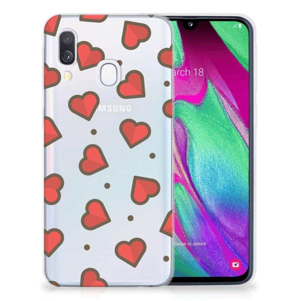 Samsung Galaxy A40 TPU bumper Hearts