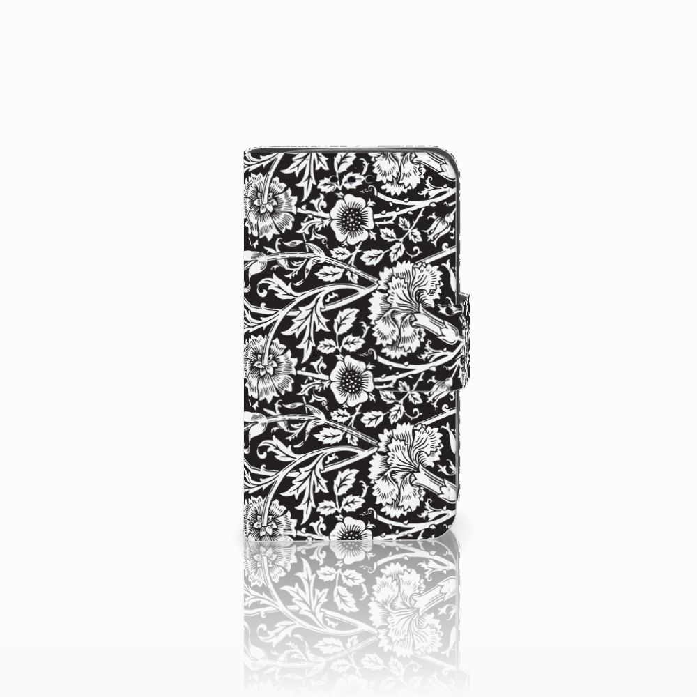 Samsung Galaxy Trend 2 Uniek Boekhoesje Black Flowers
