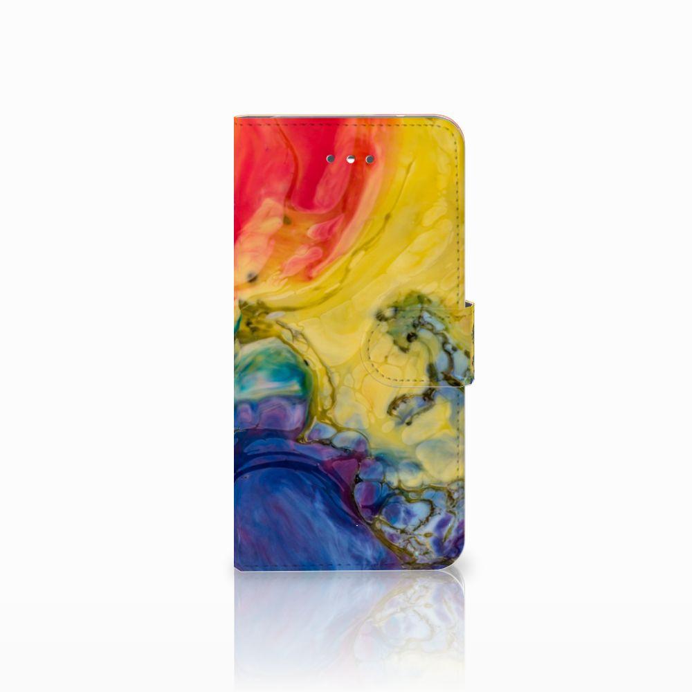 LG Nexus 5X Uniek Boekhoesje Watercolor Dark