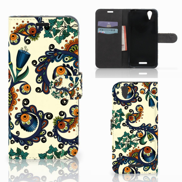 Wallet Case Acer Liquid Z630 | Z630s Barok Flower