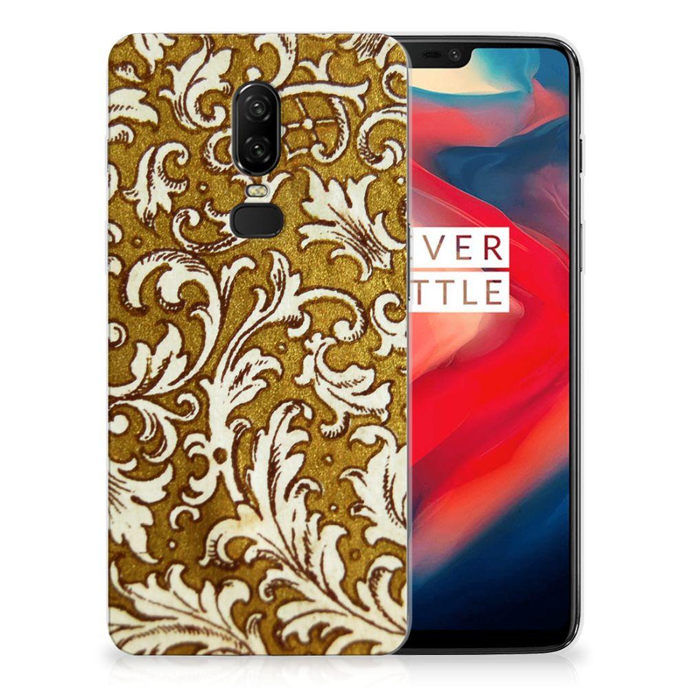 Siliconen Hoesje OnePlus 6 Barok Goud