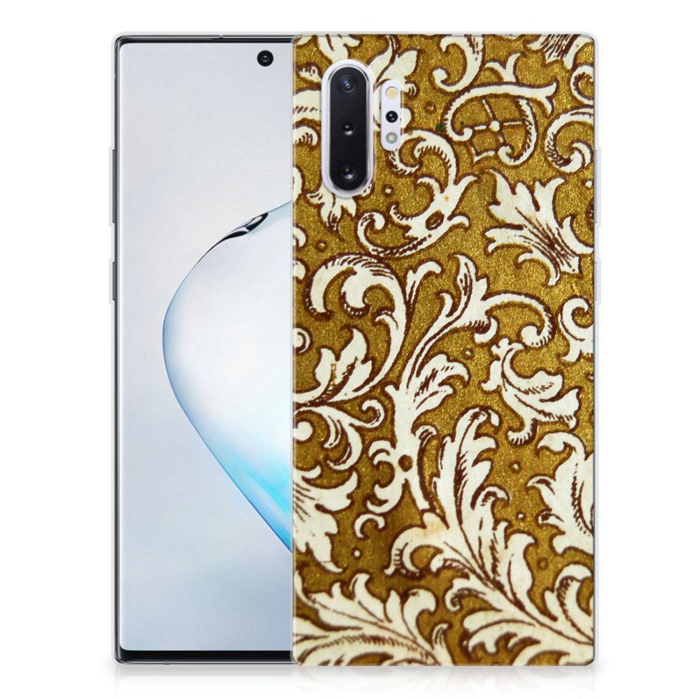 Siliconen Hoesje Samsung Galaxy Note 10 Plus Barok Goud