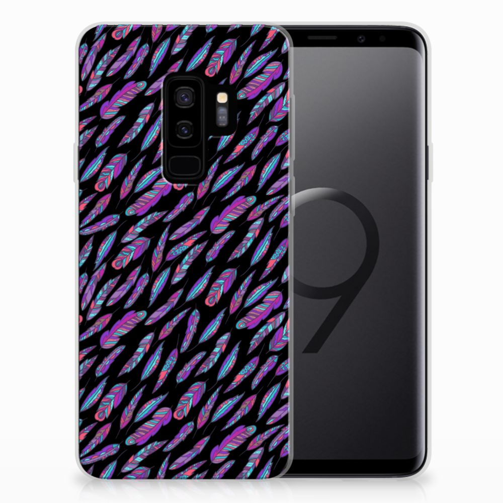 Samsung Galaxy S9 Plus TPU bumper Feathers Color
