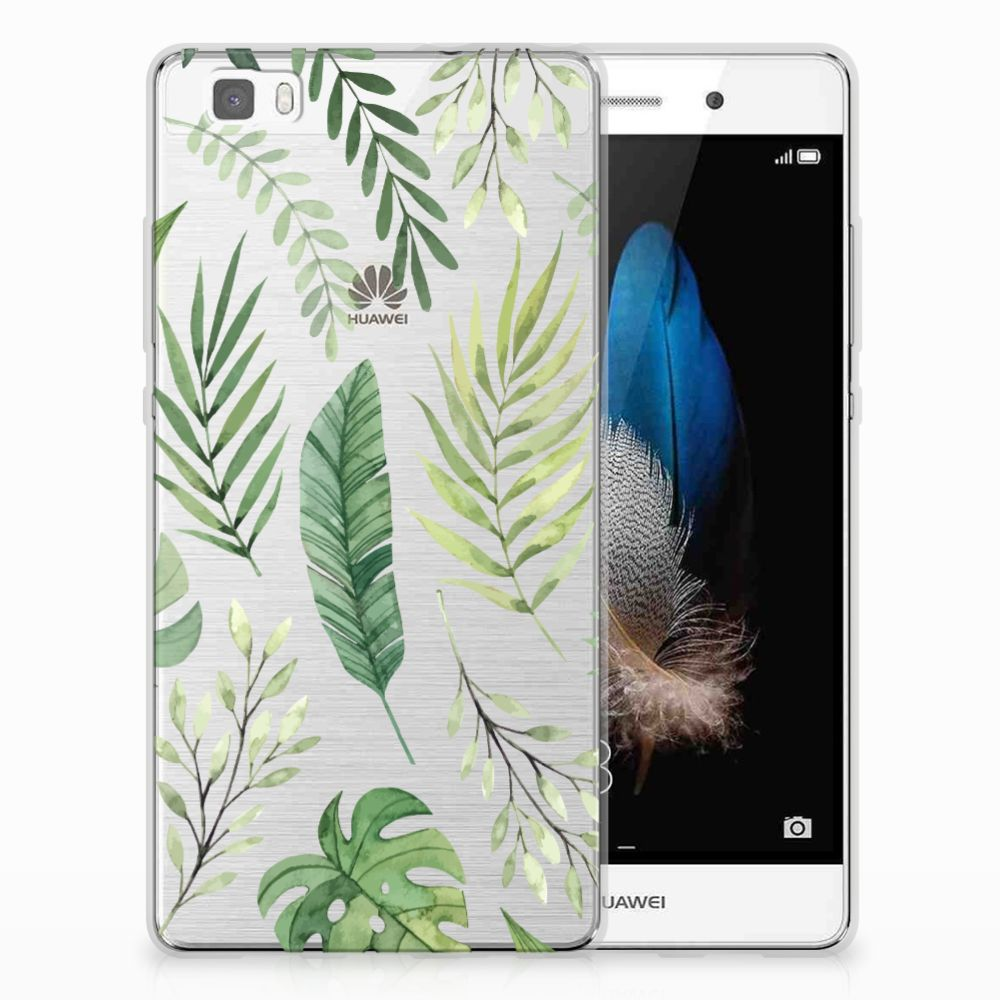 Huawei Ascend P8 Lite Uniek TPU Hoesje Leaves