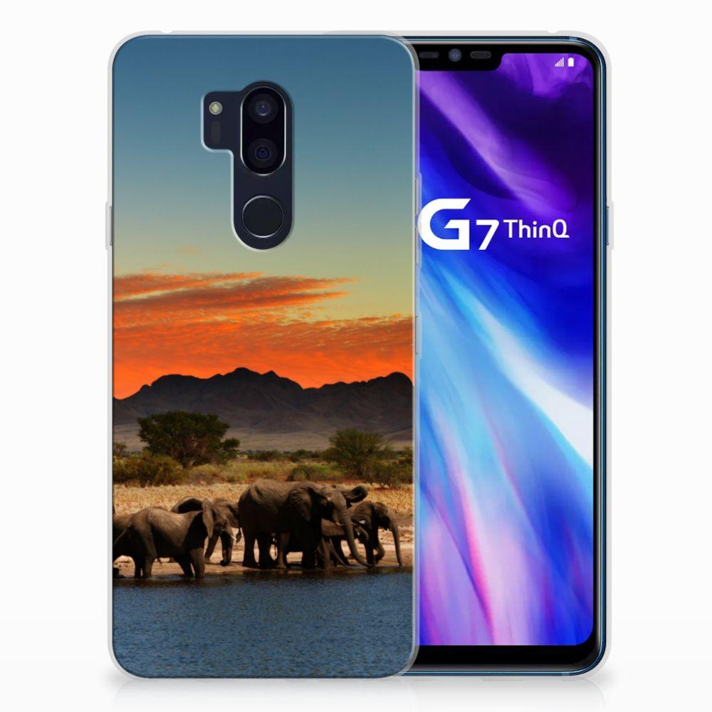 LG G7 Thinq TPU Hoesje Olifanten