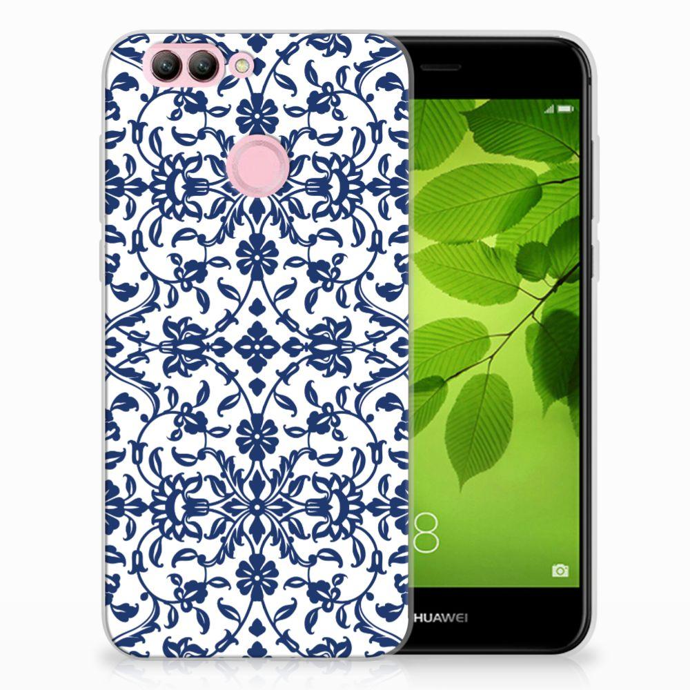 Huawei Nova 2 TPU Hoesje Flower Blue
