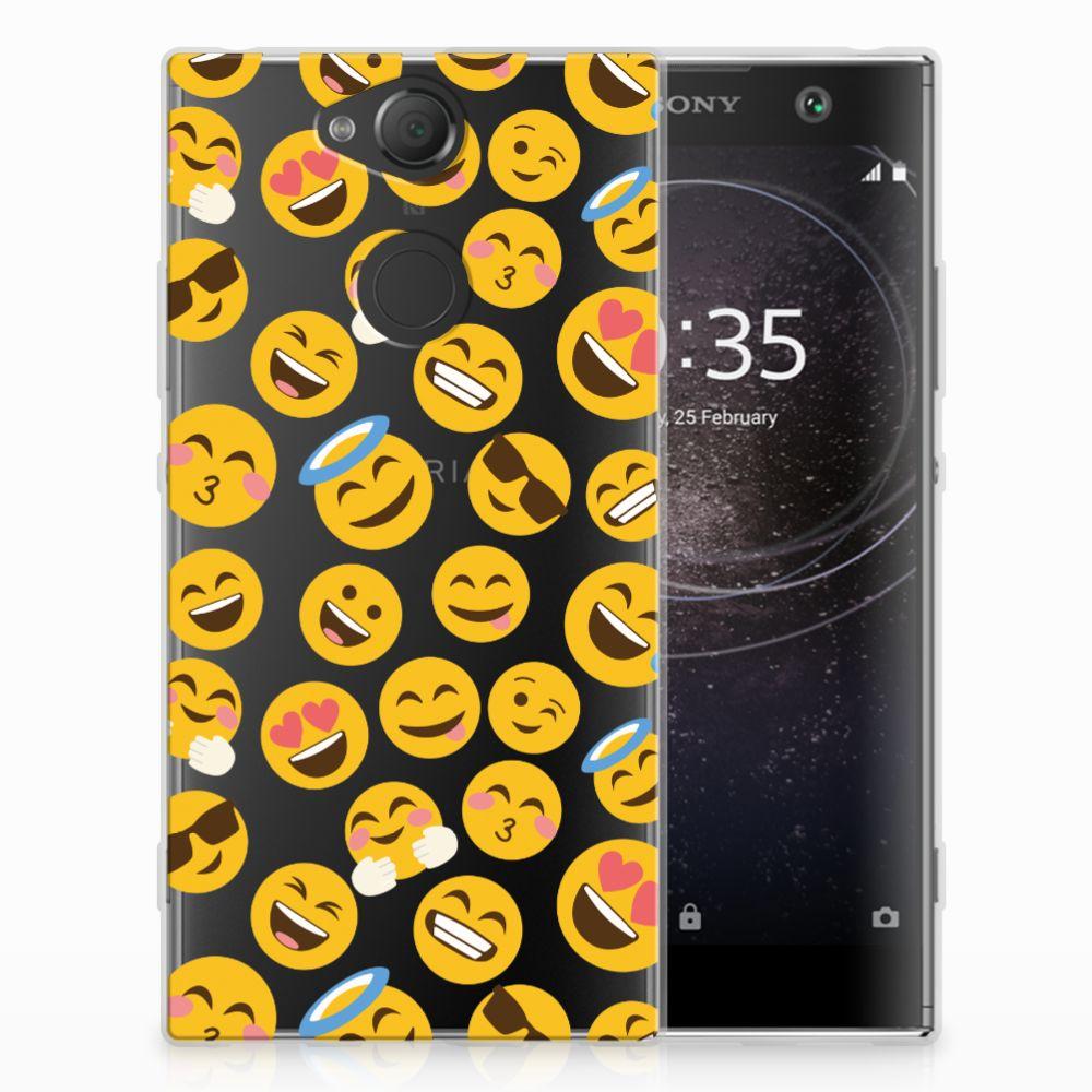 Sony Xperia XA2 TPU Hoesje Design Emoji