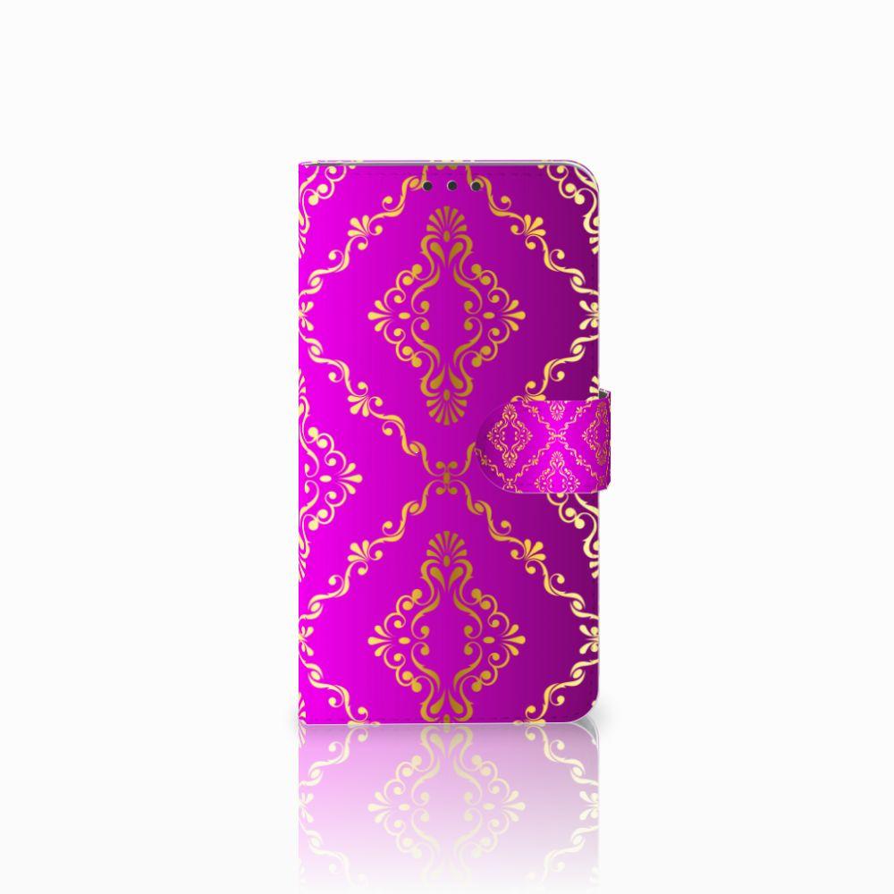Microsoft Lumia 640 XL Uniek Boekhoesje Barok Roze