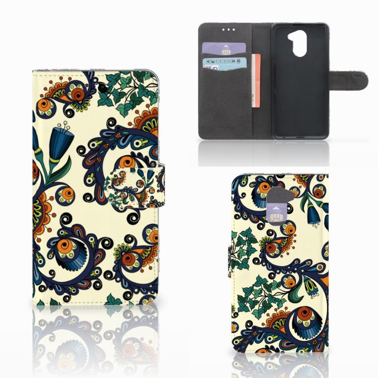 Wallet Case Huawei Y7 2017 | Y7 Prime 2017 Barok Flower
