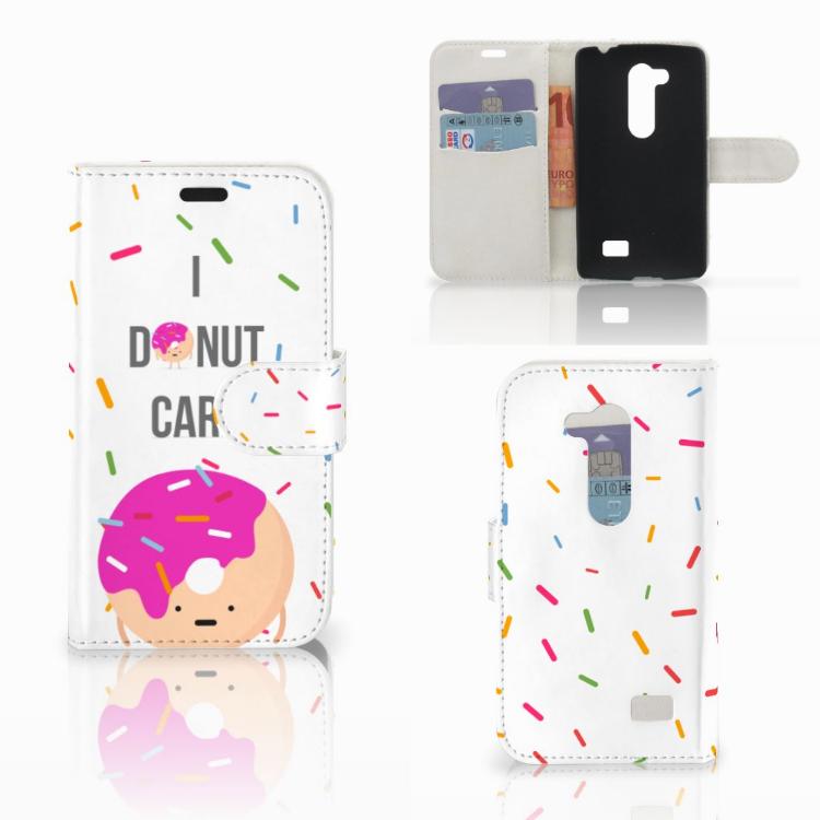 LG L Fino Book Cover Donut Roze