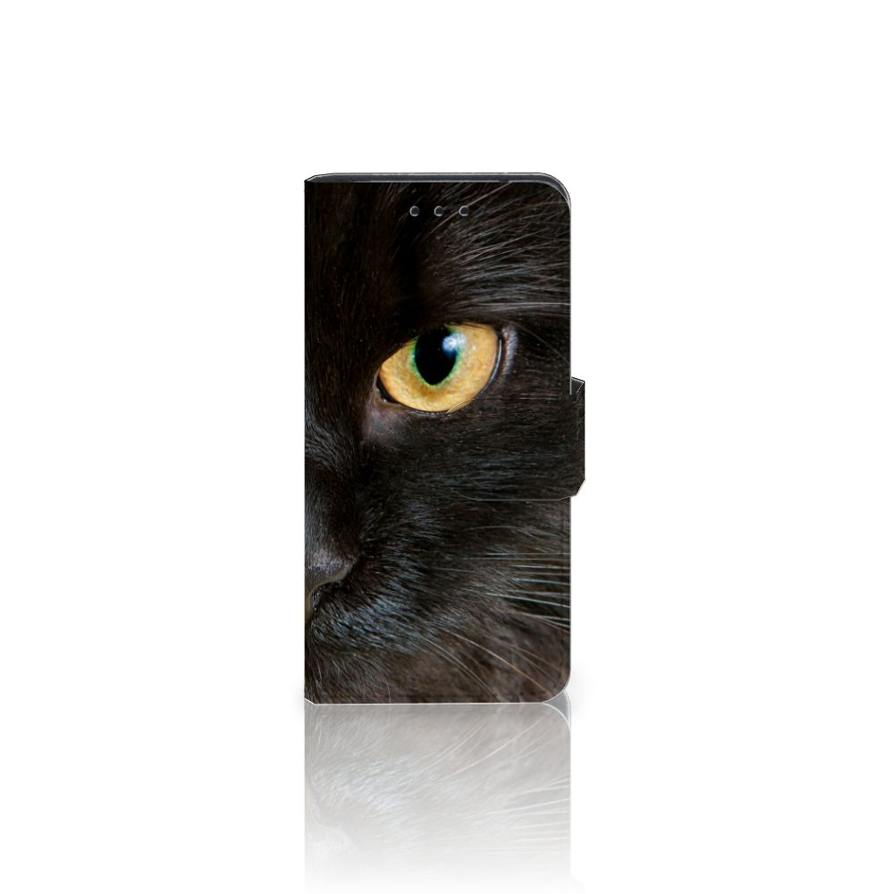 Samsung Galaxy S5 Mini Uniek Boekhoesje Zwarte Kat