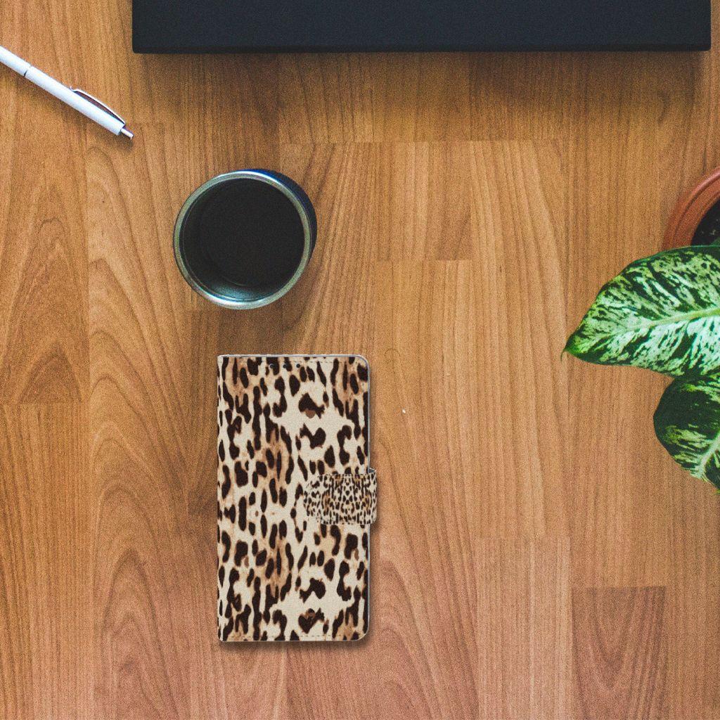 Sony Xperia Z1 Telefoonhoesje met Pasjes Leopard