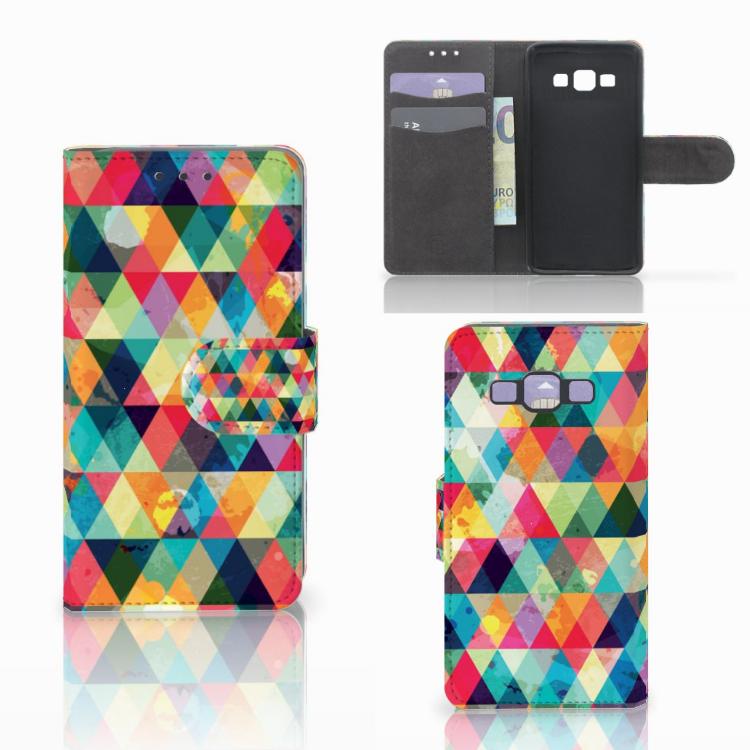 Samsung Galaxy A3 2015 Telefoon Hoesje Geruit