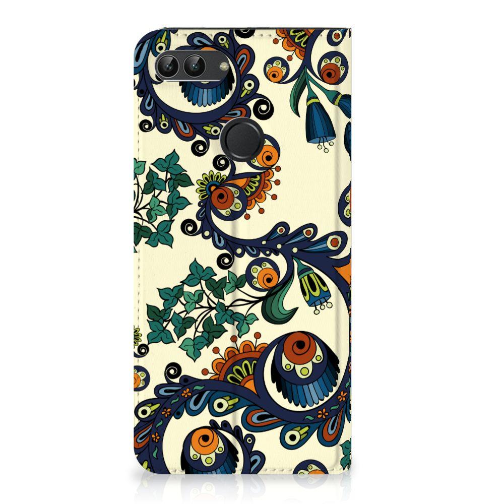 Huawei P Smart Standcase Hoesje Design Barok Flower