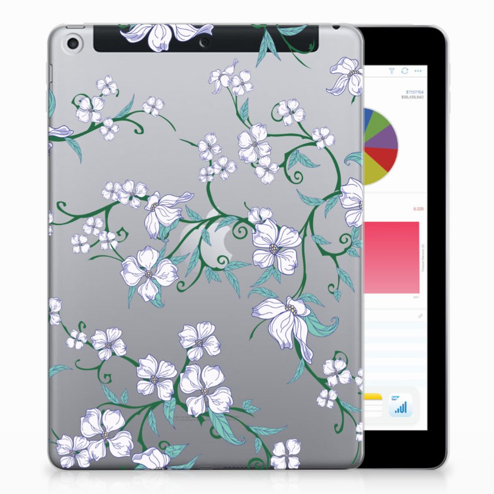 Apple iPad 9.7 2018 | 2017 Uniek Tablethoesje Blossom White