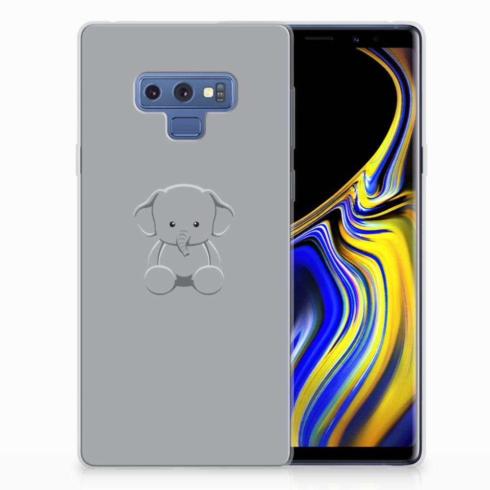 Samsung Galaxy Note 9 Telefoonhoesje met Naam Grijs Baby Olifant