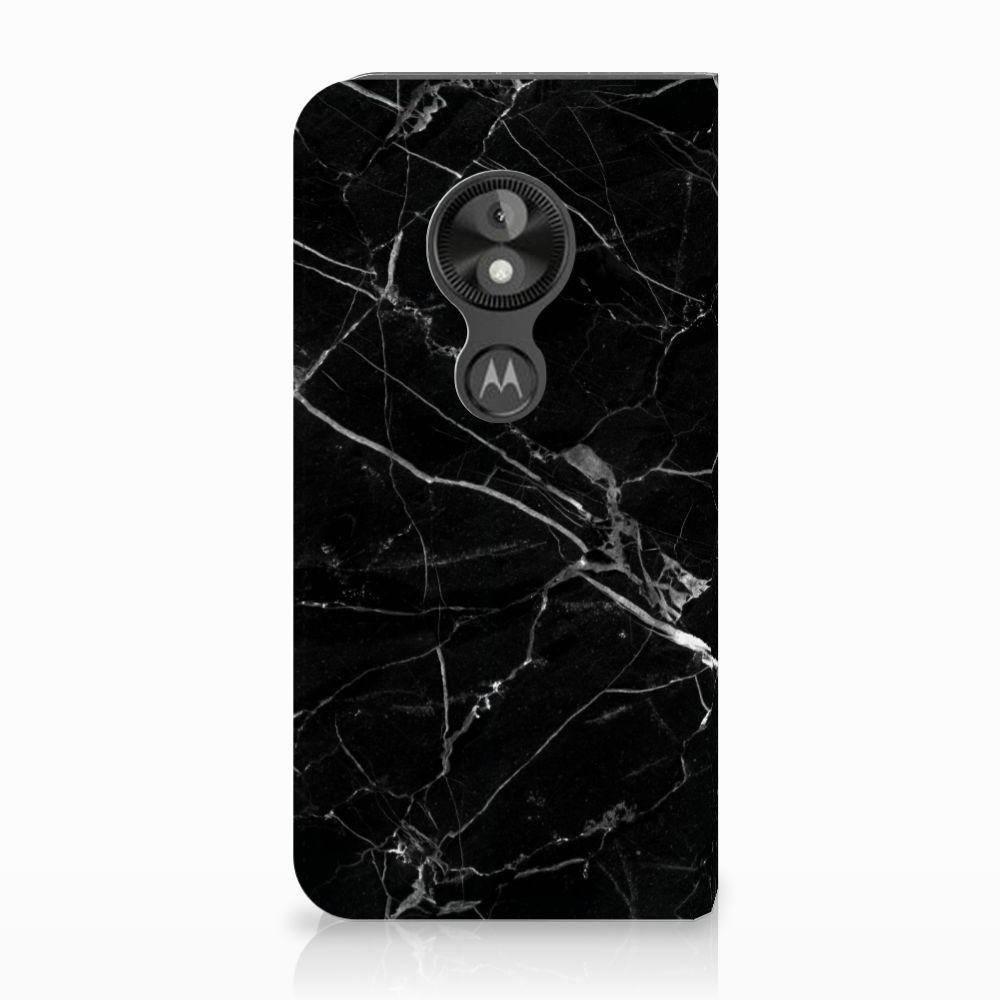 Motorola Moto E5 Play Uniek Standcase Hoesje Marmer Zwart
