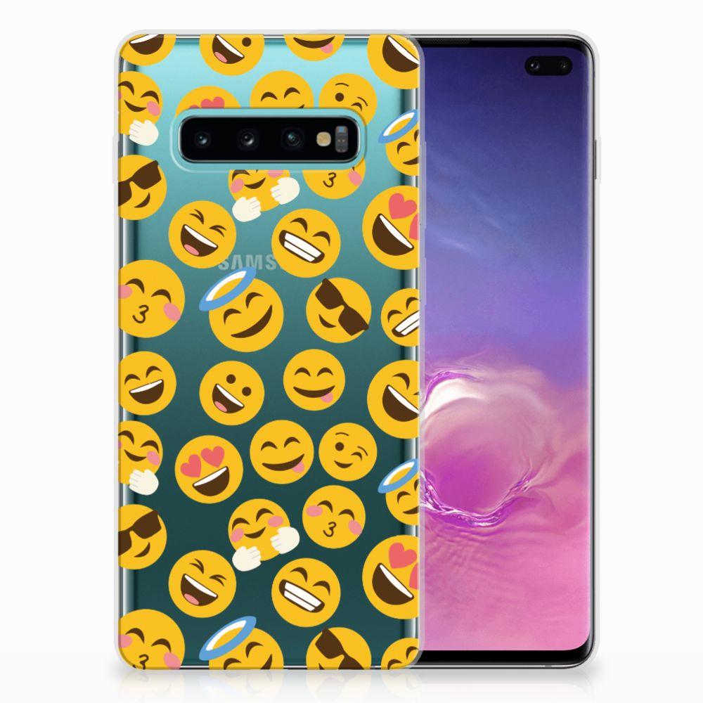 Samsung Galaxy S10 Plus TPU Hoesje Design Emoji