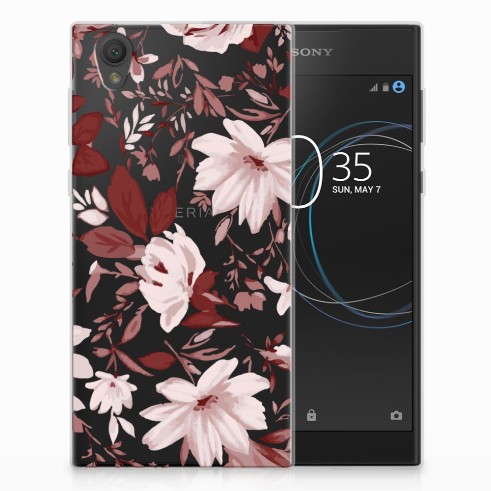 Sony Xperia L1 Uniek TPU Hoesje Watercolor Flowers