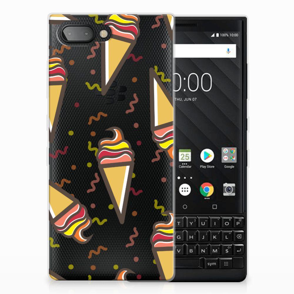 BlackBerry Key2 Siliconen Case Icecream