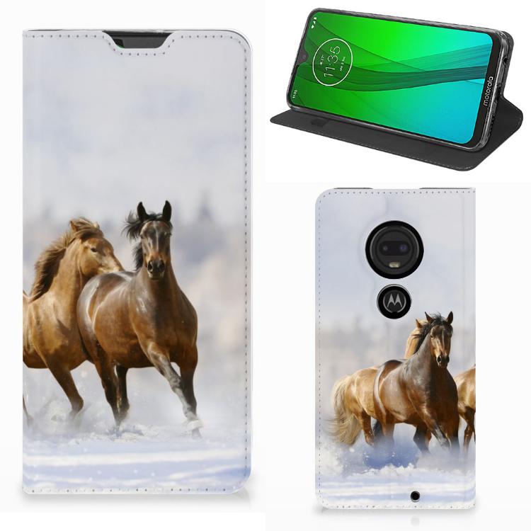 Motorola Moto G7 | G7 Plus Hoesje maken Paarden