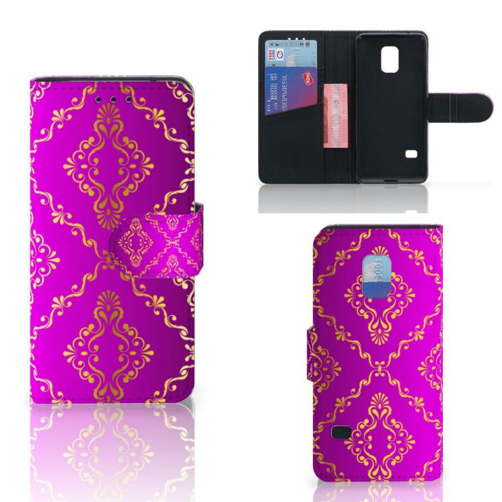 Wallet Case Samsung Galaxy S5 Mini Barok Roze