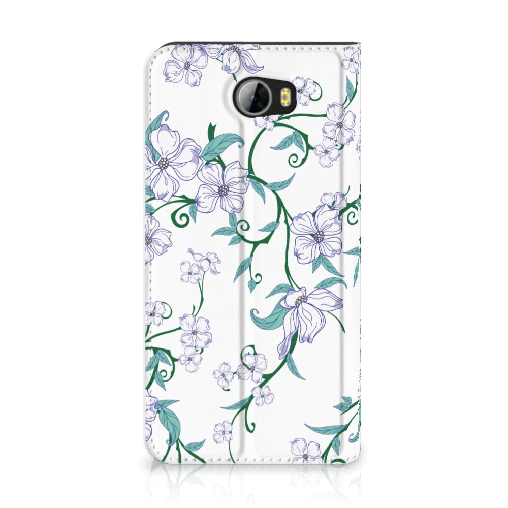 Huawei Y5 2   Y6 Compact Uniek Standcase Hoesje Blossom White