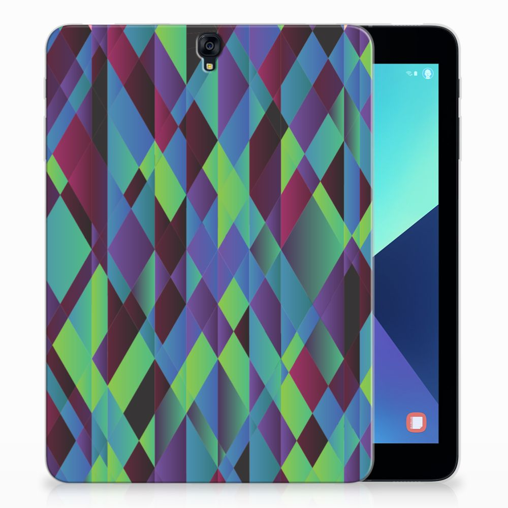 Samsung Galaxy Tab S3 9.7 Back Cover Abstract Green Blue