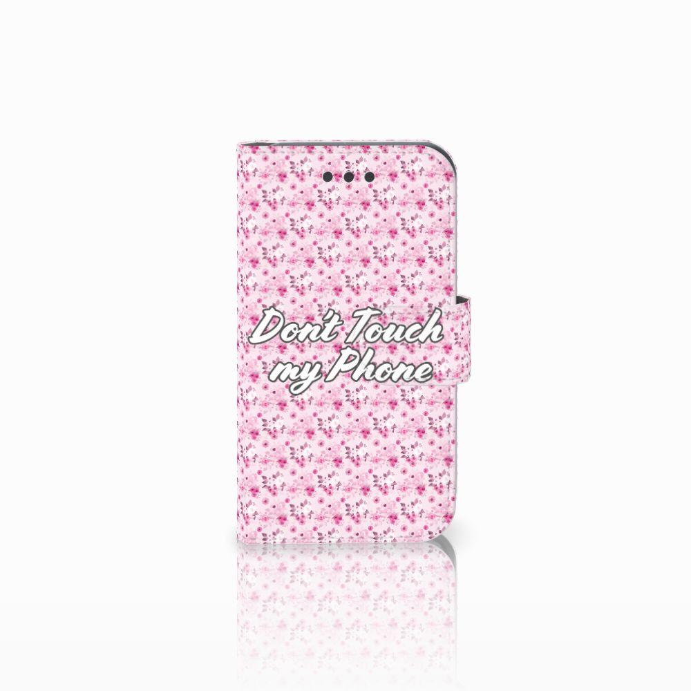 Samsung Galaxy Core 2 Uniek Boekhoesje Flowers Pink DTMP