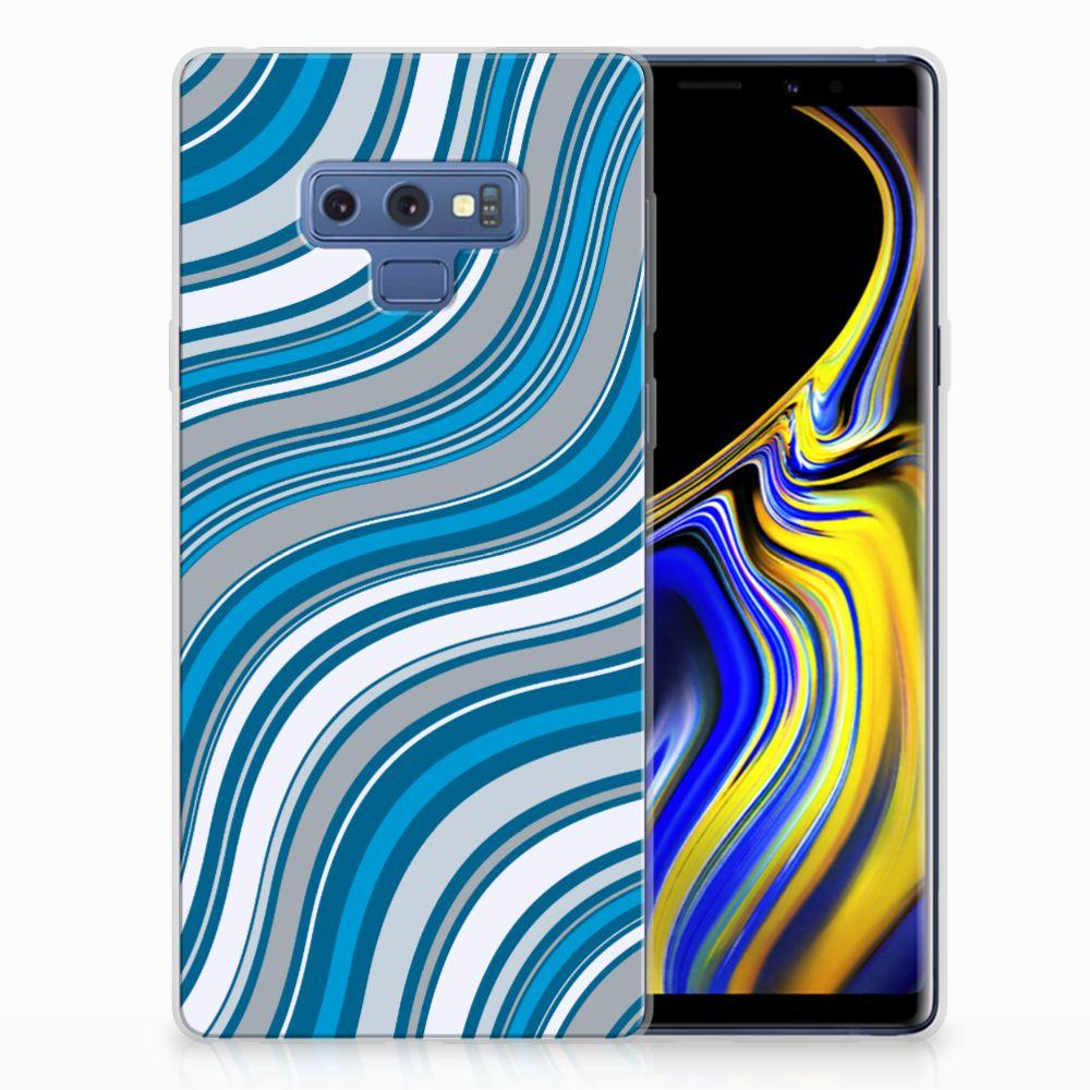 Samsung Galaxy Note 9 TPU bumper Waves Blue