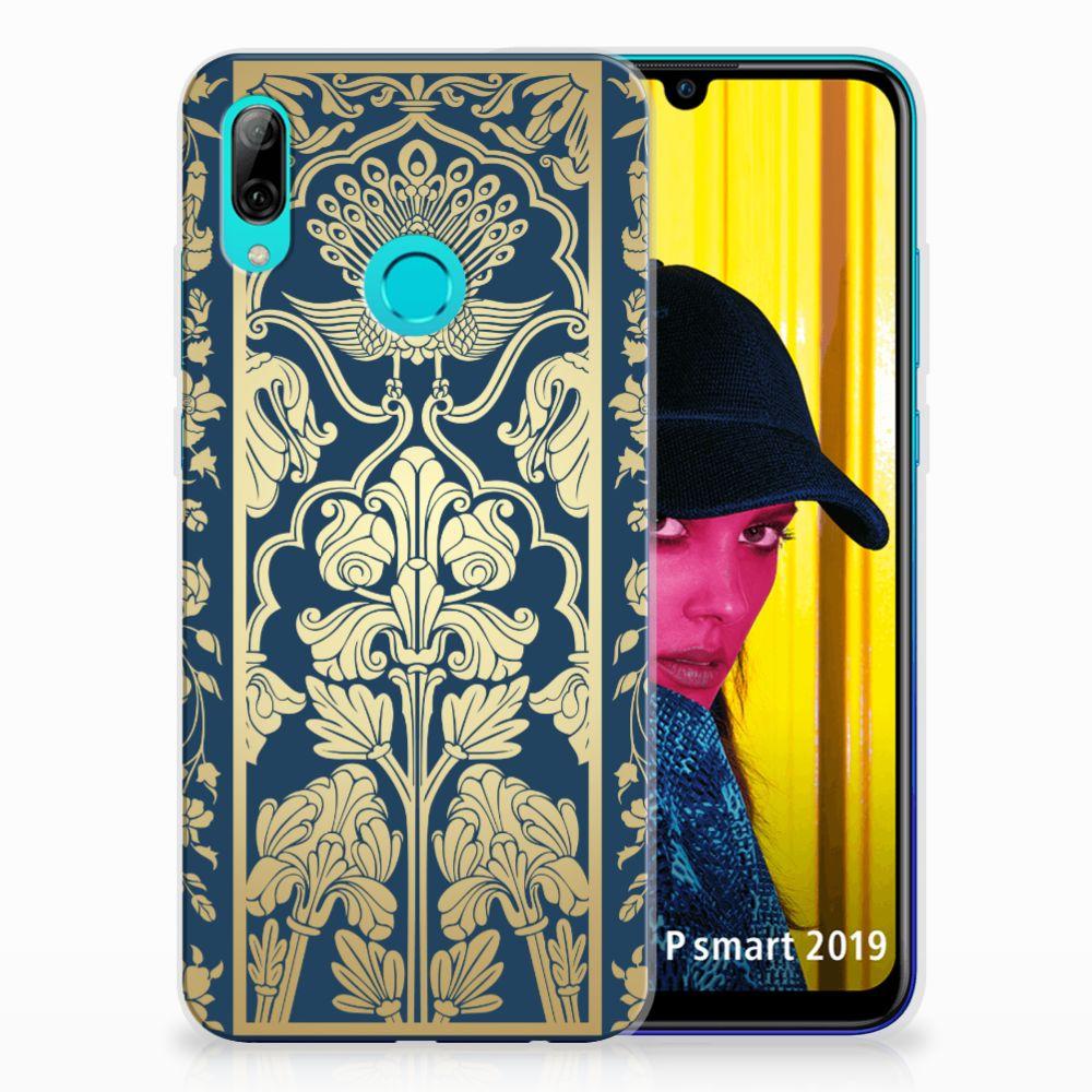 Huawei P Smart 2019 TPU Case Golden Flowers