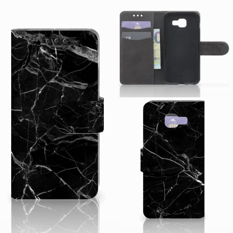 Samsung Galaxy A3 2016 Bookcase Marmer Zwart - Origineel Cadeau Vader